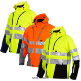 Projob Hi Vis Premium Light Functional Softshell Work Jacket Class 3/2 - 646419- Hi Vis Jackets Projob