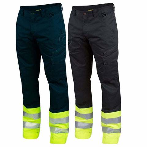 Projob Hi Vis Service Work Trousers with Knee Pad Pockets. Class 1 - 646523 - Hi Vis Trousers Projob
