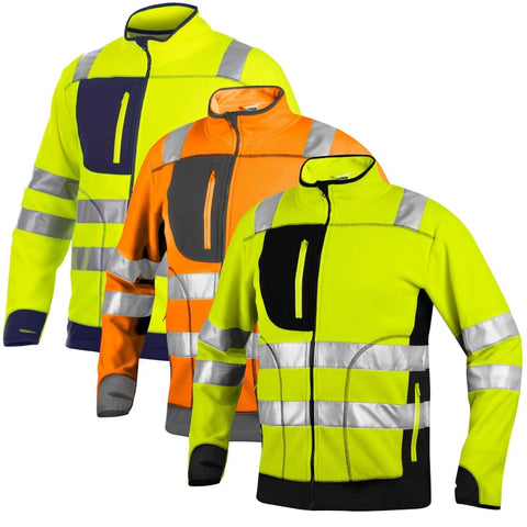 Projob Workwear Hi Vis Anti-Pilling Work Fleece class 3/2 - 646303- Hi Vis Jackets Projob