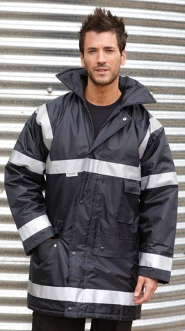 Result Work-guard Management Coat-R23X - Hi Vis Waterproofs Result