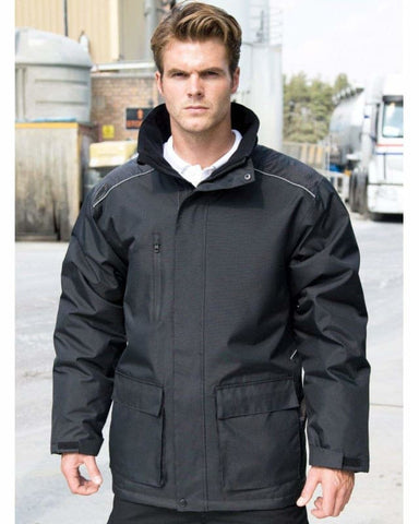 Result Workguard Vostex Long Coat - R305X - Jackets Gilets & Fleeces WORK-GUARD by Result