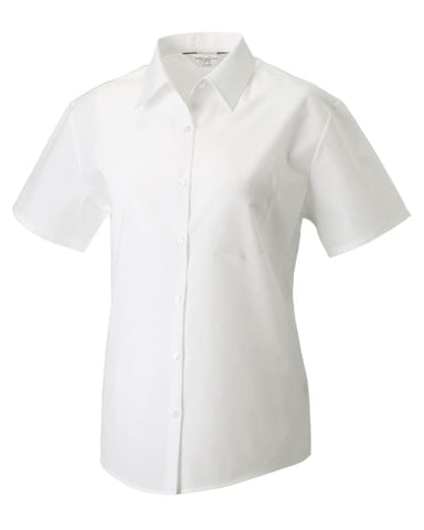 Russell Collection Ladies Poplin Shirt-935F - White / 2XL - Shirts Polos & T-Shirts Russell Collection