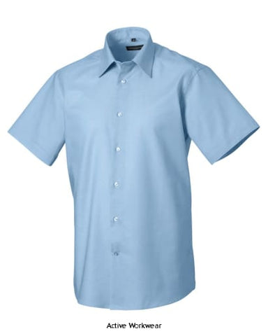 Russell Collection Mens S/SL Oxford-923M - Oxford Blue / 14.5 - Shirts Polos & T-Shirts Russell Collection