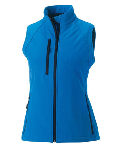 Russell Ladies Soft Shell Gilet-R141F - Black / 2XL - Jackets Gilets & Fleeces Russell Collection