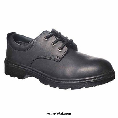 Safety Shoe S3 Steel Toecap and Midsole Thor Shoe - FW44 - 38 / BLACK - Shoes Portwest