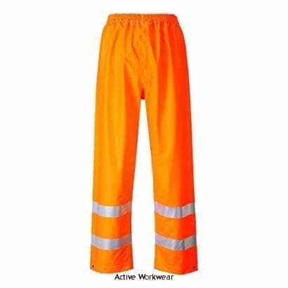 Sealtex Flame Retardent Hi-Vis Waterproof Over Trousers - FR43 - Orange / Large - Fire Retardant Portwest