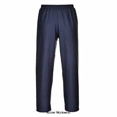 Sealtex Flame Retardent Waterproof Trousers - FR47 - Large / Navy - Fire Retardant Portwest