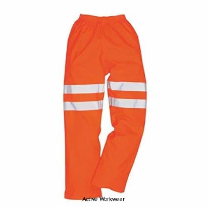 Sealtex Ultra Hi Viz Rail Waterproof over Trouser - RT51 - Large / Orange - Hi Vis Trousers Portwest