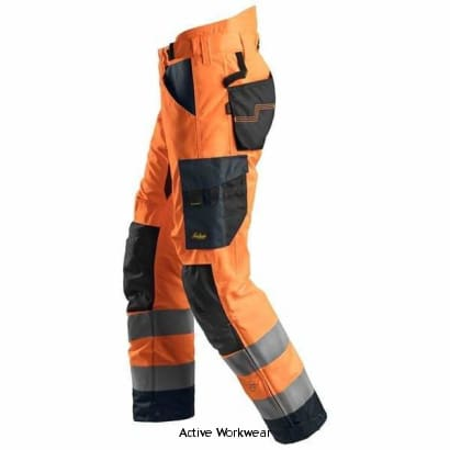 Snickers AllRound Work High Vis 37.5 Insulated Trousers Class 2 - 6639 - Trousers Snickers
