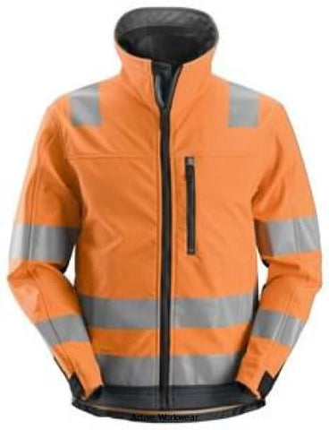 Snickers AllRound Work High Vis Softshell Jacket Class 3 - 1230 - Hi Vis Jackets Snickers