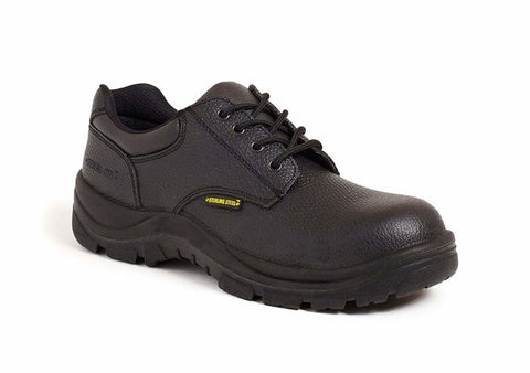 Sterling Steel 4 Eyelet Safety Shoe. Steel Toe & Midsole. Sizes 4-12 SS 402SM - Black / 4 - Shoes Sterling Steel