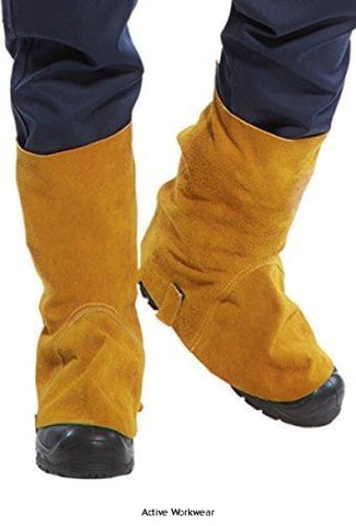 Welding Flame Retardent Leather Boot Covers 14' - SW32 - Fire Retardant - Portwest
