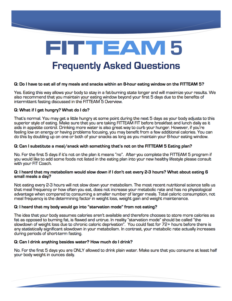 FitTeam Fit Sticks Frequently Asked Questions – FitTeam Weight Loss