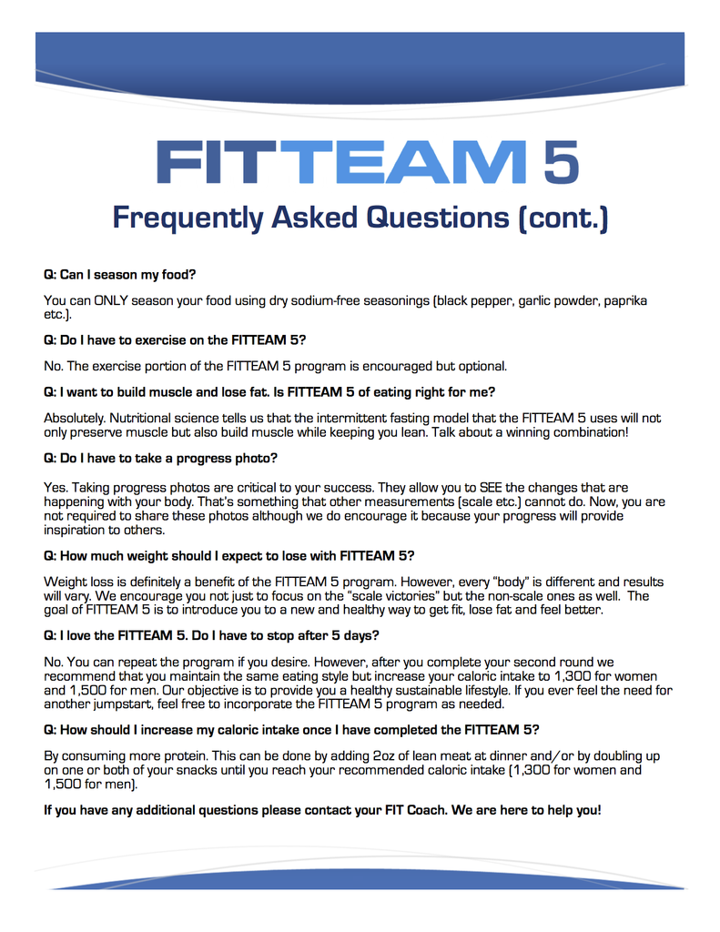 Fitteam Fit Sticks Frequently Asked Questions Fitteam Weight Loss