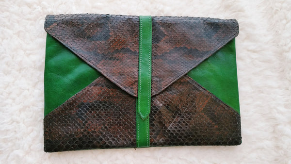 LALA - Green Foldover Clutch