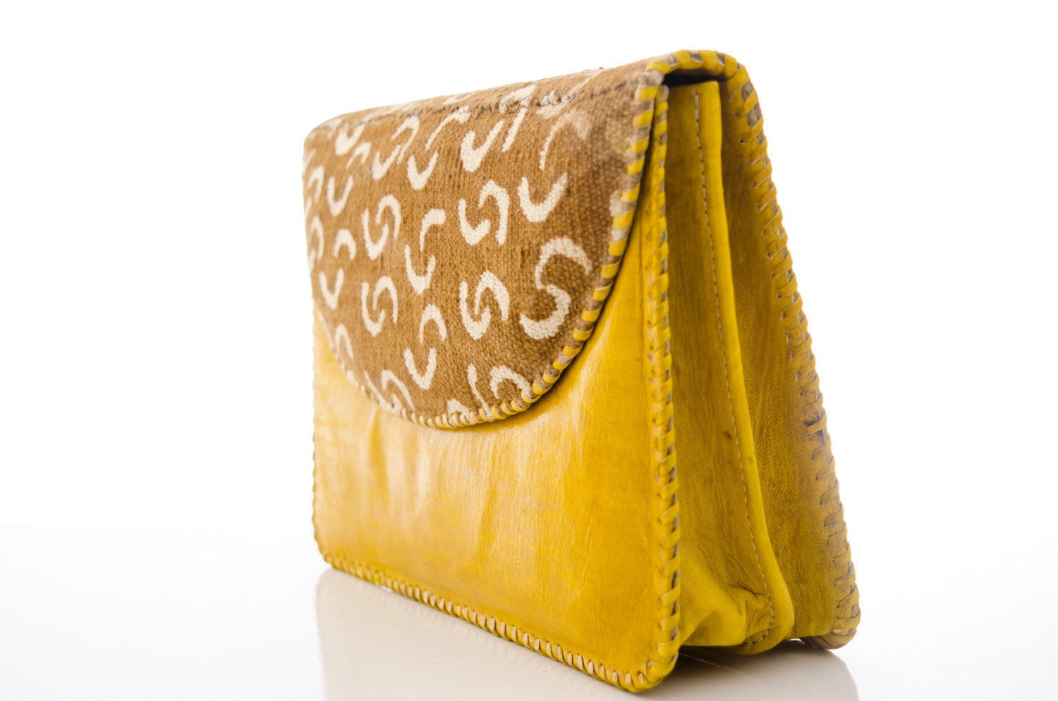 Dina - Leather & Mud Cloth