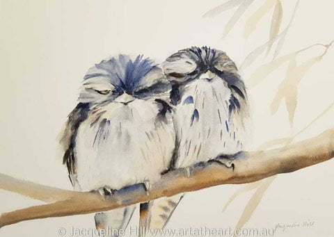"DA149 ""Tawnies"" Original Watercolour Painting by Jacqueline Hill"