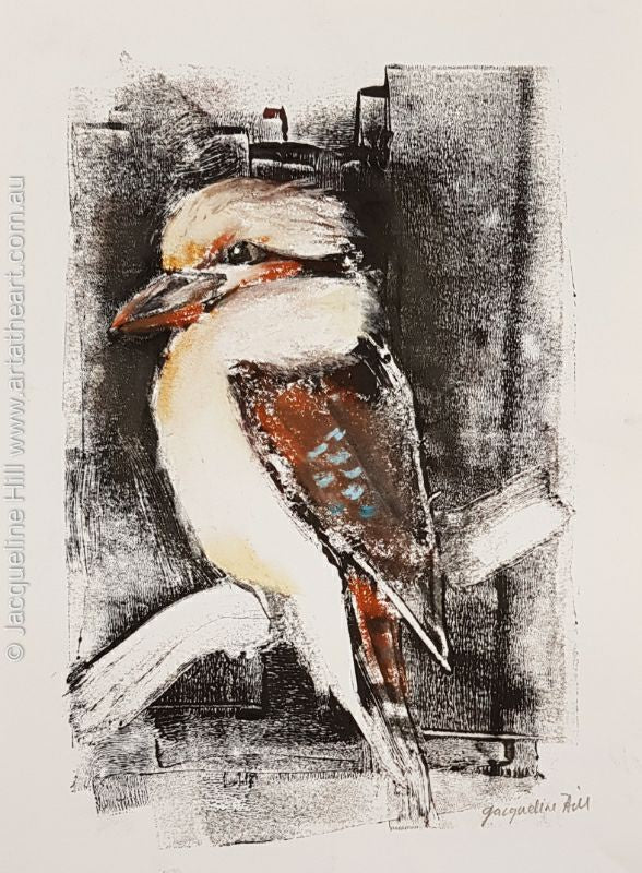 "DA153 ""Kooka Lookout"" Original Mixed Media by Jacqueline Hill"