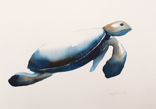 """Turtle XIIw"" Original Watercolour Painting by Jacqueline Hill [OR025]"