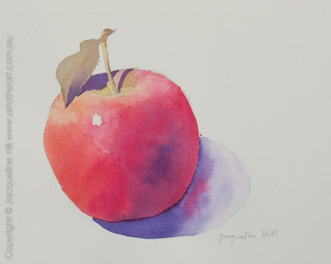 """Apple II"" Original Watercolour Painting by Jacqueline Hill [OR036]"