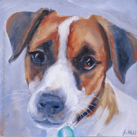 "DP321 ""Jack"" Original Oil on Panel Painting by Jacqueline Hill"