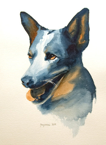 """Dog I"" Original Watercolour Painting by Jacqueline Hill [OR331]"