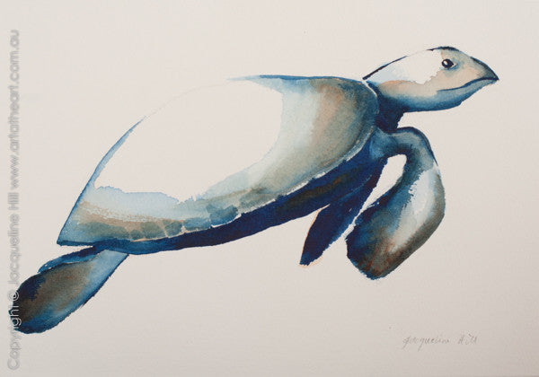 """Turtle XI"" Original Watercolour Painting by Jacqueline Hill [OR273]"