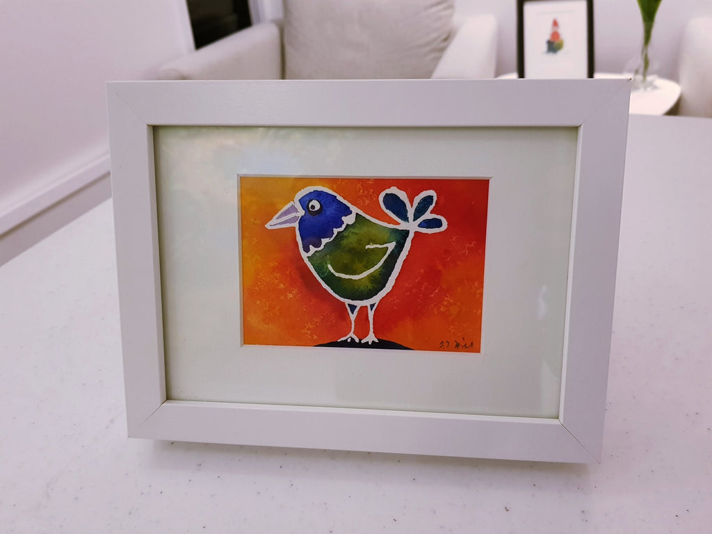 """Birdie"" Original Watercolour Painting by Jacqueline Hill [OR056]"