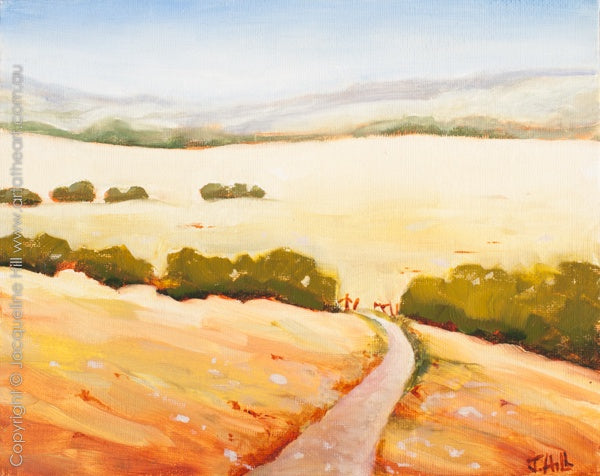 """Warm Fields II"" Original Oil Painting by Jacqueline Hill [OR226]"