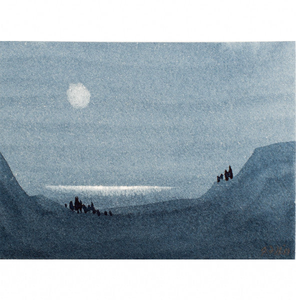 """Your Moment of Zen VI"" Zen Series Original miniature watercolour painting by Jacqueline Hill [ZEN006]"