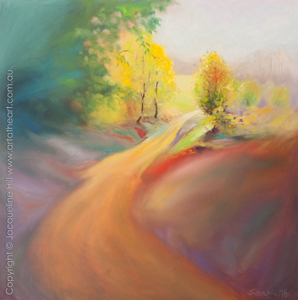 """Serenity Road"" Original Oil Painting by Jacqueline Hill [OR337]"