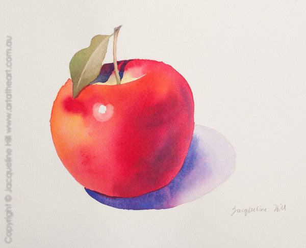 """Apple III w"" Original watercolour painting by Jacqueline Hill [Ornnn prev OR327]"