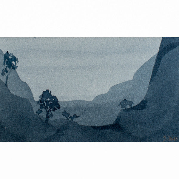 """Your Moment of Zen XIII"" Zen Series Original miniature watercolour painting by Jacqueline Hill [ZEN013]"