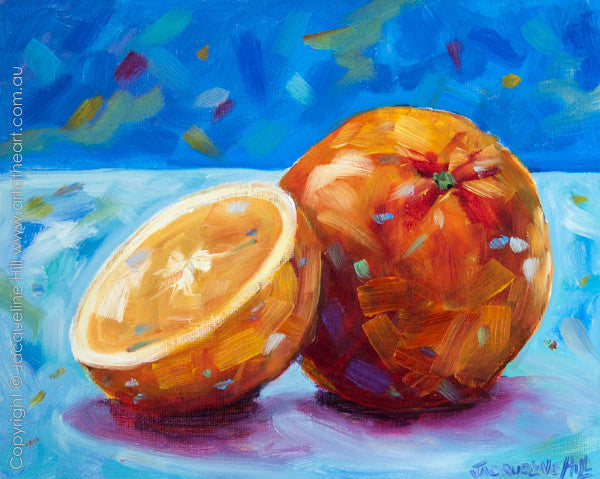 """A Song of Orange"" Original Oil Painting 10x8"" by Jacqueline Hill [OR031]"