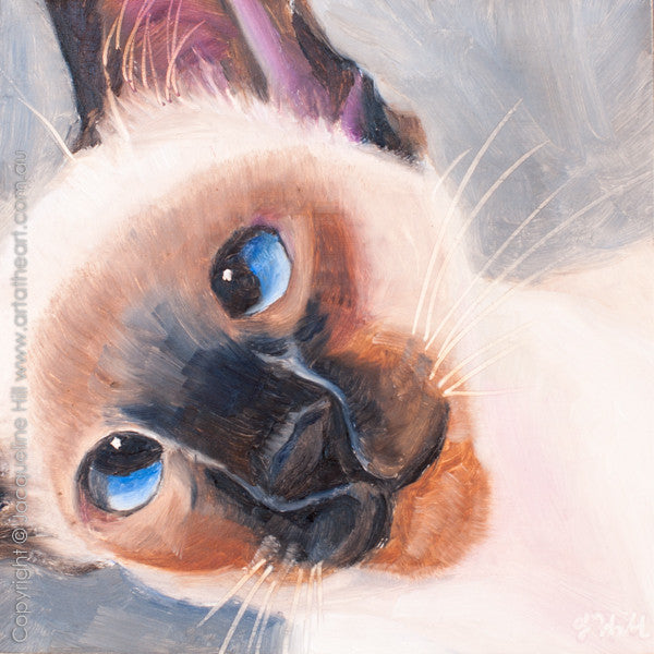 "DP242 ""Otis"" Original Oil on Panel Painting by Jacqueline Hill"