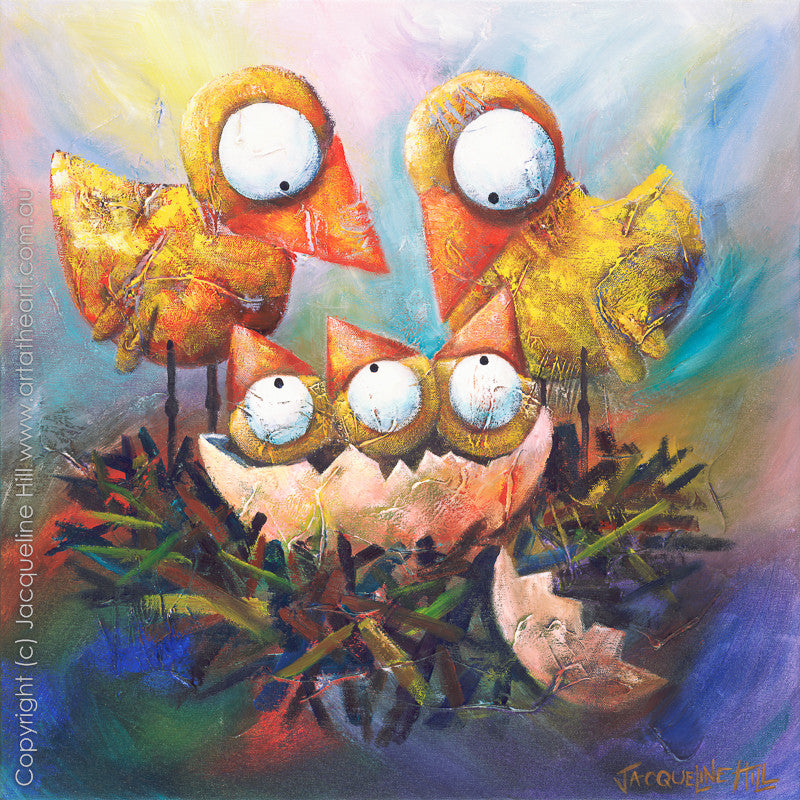 """Triplets"" by Jacqueline Hill, Limited Edition Fine Art Reproduction"