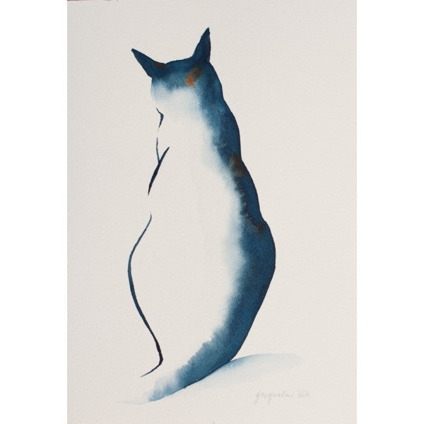 """Cat LI"" Original Watercolour Painting by Jacqueline Hill [OR008]"