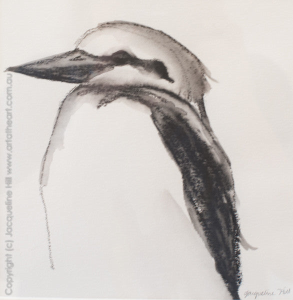 """Kookaburra Ig"" Original Water Graphite Painting by Jacqueline Hill [OR233]"