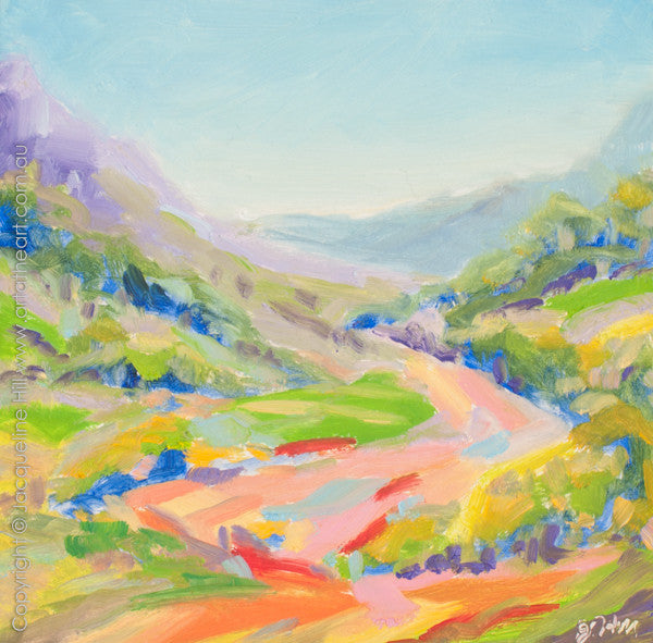 "DP232 ""Dream Valley V"" Original Oil on Panel Painting by Jacqueline Hill"