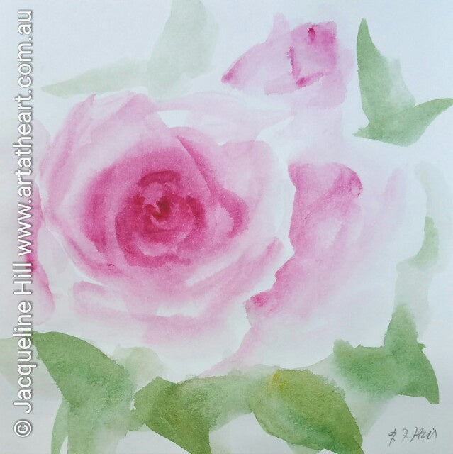 "DA006 ""Roses Galore"" Original Watercolour Painting by Jacqueline Hill"