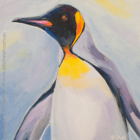 "DP289 ""King of the Ice"" Original Oil on Panel Painting by Jacqueline Hill"