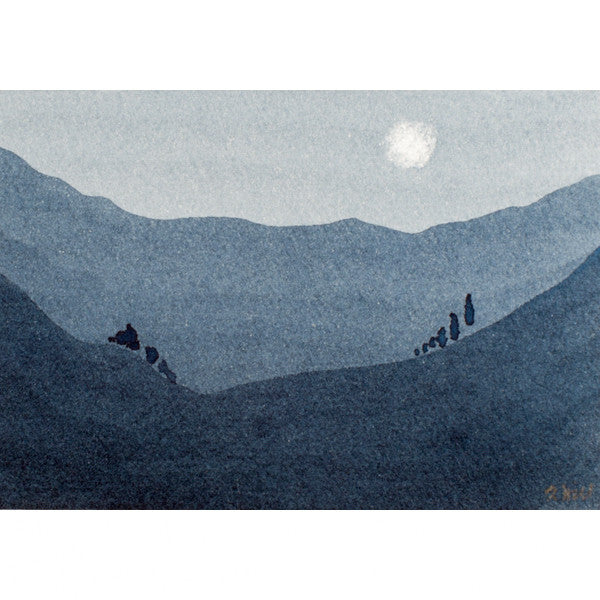 """Your Moment of Zen IX"" Zen Series Original miniature watercolour painting by Jacqueline Hill [ZEN009]"