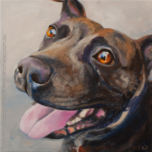 """Lola"" Original Oil on Canvas 12"" Painting by Jacqueline Hill [OR307]"