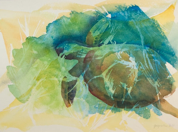 """Turtle VI"" Original Watercolour Painting by Jacqueline Hill [OR209]"