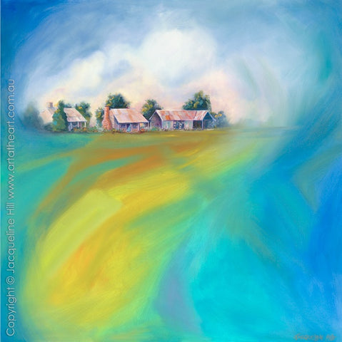 """Homestead"" Original Oil Painting by Jacqueline Hill [OR338]"