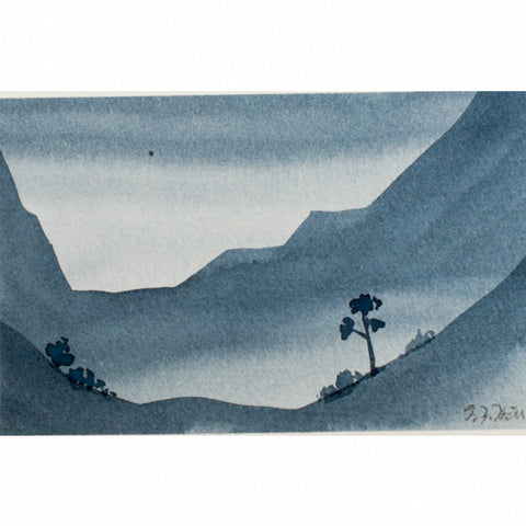 """Your Moment of Zen III"" Zen Series Original miniature watercolour painting by Jacqueline Hill [ZEN003]"