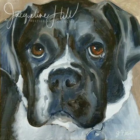 "DPE019 ""Pippy"" Original Oil on Panel Painting by Jacqueline Hill"