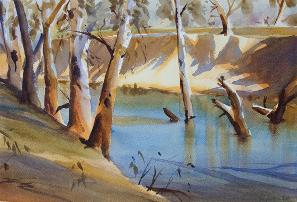 """River Gums"" Original Watercolour Painting by Jacqueline Hill [OR016]"