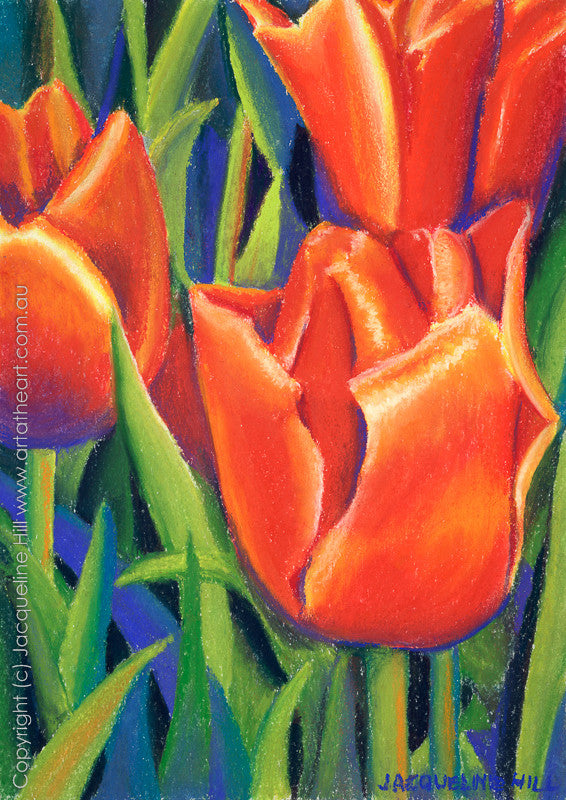 """Tulips"" by Jacqueline Hill, Limited Edition Fine Art Reproduction"