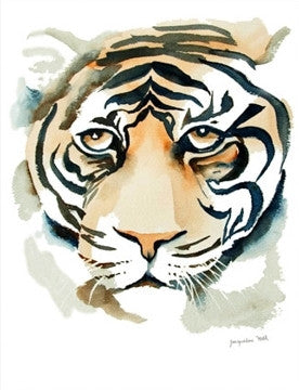 """Tiger I"" Original Watercolour Painting by Jacqueline Hill [OR204]"
